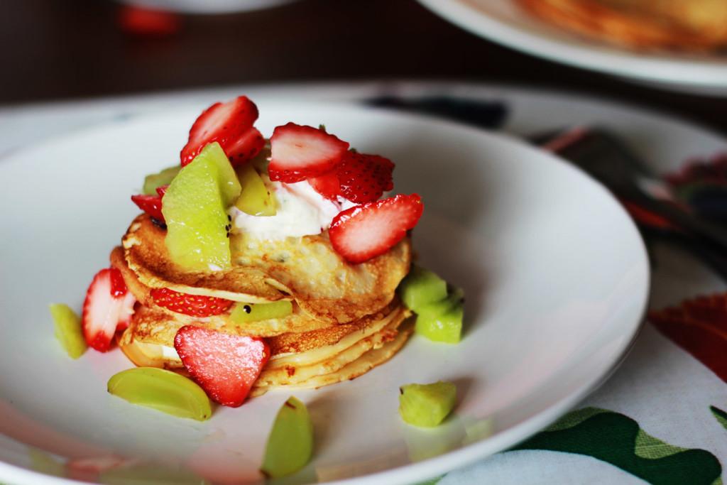 Preparación de los pancakes divertidos