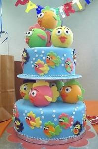 pastel de cumpleaños tartas fondant