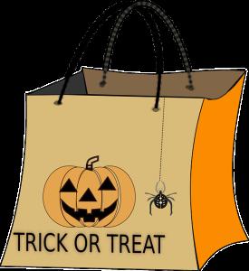 Cómo hacer un recipiente con chuches de Halloween