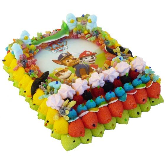 Tartas de chuches para fiestas infantiles